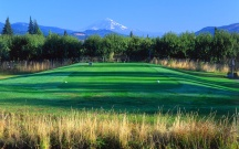 The Course: INDIAN CREEK | The Wonder: Columbia River Gorge | The front nine has a great view of Mt. Hood's north face.